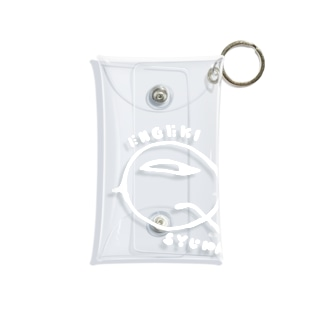 Qちゃん 白 Mini Clear Multipurpose Case