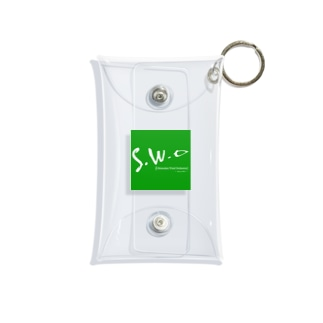 四角ロゴ Mini Clear Multipurpose Case