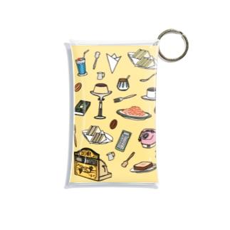 純喫茶 いろどり 背景つき Mini Clear Multipurpose Case