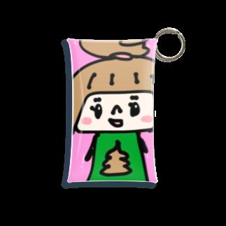 万枚ちゃんのうんこちゃん(ピンク) Mini Clear Multipurpose Case