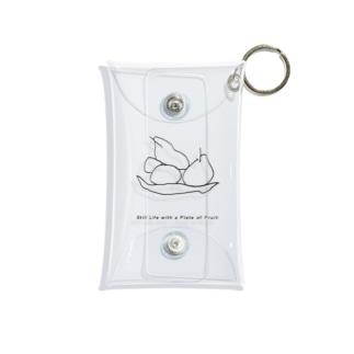 果物の静物画 Mini Clear Multipurpose Case