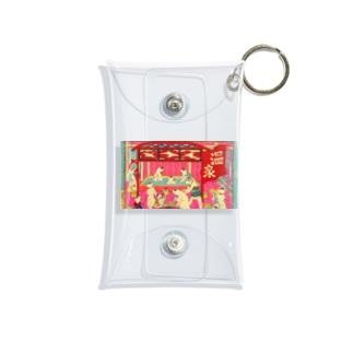 ネコ温泉 浮世絵 Mini Clear Multipurpose Case