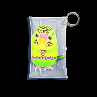 Lily bird(о´∀`о)のうるうる黄緑ジャンボ ロゴ入り① Mini Clear Multipurpose Case