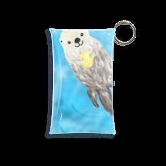 Lily bird(о´∀`о)のぷかぷかラッコ② Mini Clear Multipurpose Case