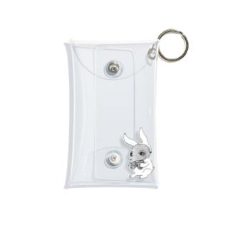 8助のおめかしペストマスクうさぎ Mini Clear Multipurpose Case