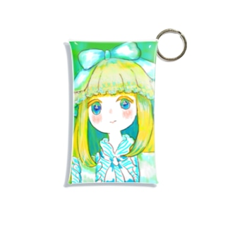 みどりのお嬢さん Mini Clear Multipurpose Case