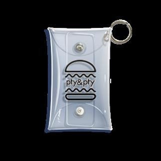 pty&ptyのpty&pty バーガー Mini Clear Multipurpose Case