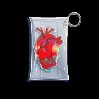 がつのカラフルな心臓 Mini Clear Multipurpose Case