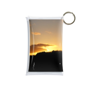 グラデーションの空 (橙) Mini Clear Multipurpose Case