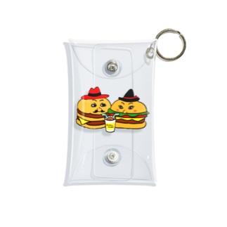 ハンバーガーカップル シェイク Mini Clear Multipurpose Case