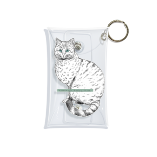 nemunoki paper itemのヤマネコ Mini Clear Multipurpose Case