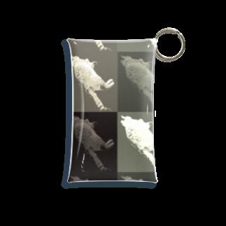 nyanko_のモノクロネコスイミン Mini Clear Multipurpose Case