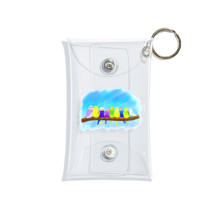 Lily bird(о´∀`о)のぎゅうっとセキセイずと青空② Mini Clear Multipurpose Case
