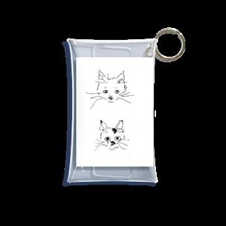 ひよ子のラブリー猫チャンズ Mini Clear Multipurpose Case