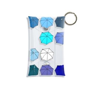 傘の花 あお Mini Clear Multipurpose Case