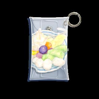 すこやかのフルーツクリームあんみつ Mini Clear Multipurpose Case