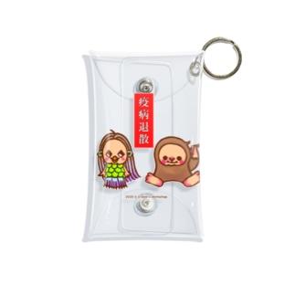 アマビエさんとアマビコさん Mini Clear Multipurpose Case