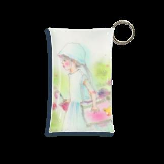 Chieの小部屋の雨色のお花 Mini Clear Multipurpose Case