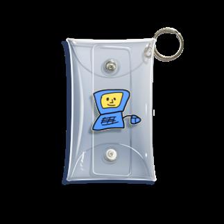 しなびたアフロのぱそこんくん 青 Mini Clear Multipurpose Case