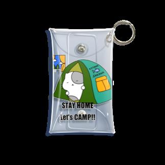 ねこぶんちゃんの猫ぶんちゃん おうちキャンプ Mini Clear Multipurpose Case