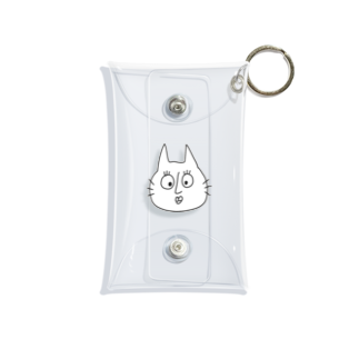 tsubomi creativeの元気な猫「m」 Mini Clear Multipurpose Case