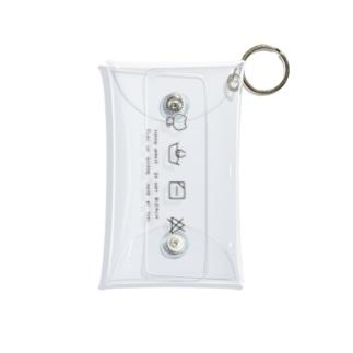 くまの洗濯表示 Mini Clear Multipurpose Case