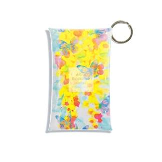 AKI ONLINE SHOP 色のある暮らしのゴールデンシャワーの片思い Mini Clear Multipurpose Case