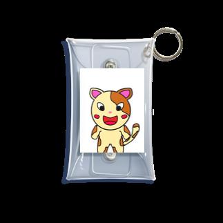 yutura117の猫の笑顔 Mini Clear Multipurpose Case