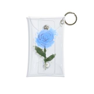 青色のバラ Mini Clear Multipurpose Case