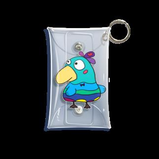 ぺけ丸の幸せの青い鳥 Mini Clear Multipurpose Case