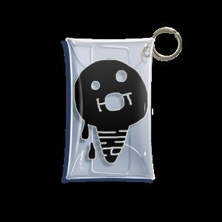 bocoxodesignShopのsummerMONSTAR【ice】 Mini Clear Multipurpose Case