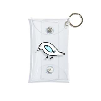 鳥と魚のねこぜちゃん Mini Clear Multipurpose Case