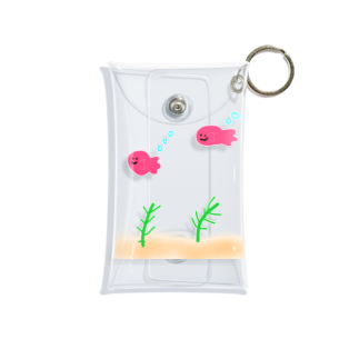 しなびたアフロのゆる金魚鉢 Mini Clear Multipurpose Case
