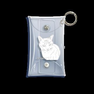 Wakameleonの猫のぴーちゃんです! Mini Clear Multipurpose Case