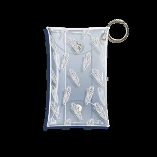まどろみの温度のチューリップ パターン 白 Mini Clear Multipurpose Case