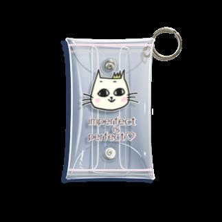 ララミねこ のキュートなネコ Mini Clear Multipurpose Case