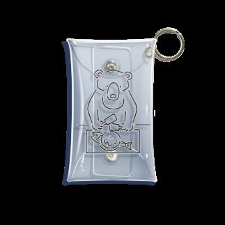 Aliviostaのお好み焼き クマ イラスト Mini Clear Multipurpose Case