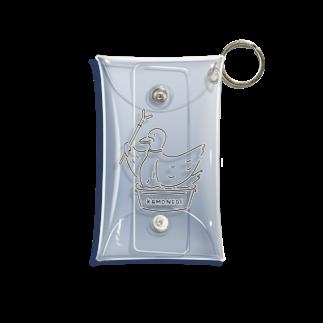 Aliviostaのカモネギ 鳥イラスト Mini Clear Multipurpose Case