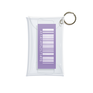 amy_sのカラーバーコード_ムラサキ(タテ) Mini Clear Multipurpose Case