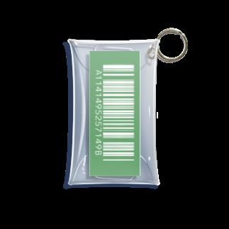 amy_sのカラーバーコード_グリーン(タテ) Mini Clear Multipurpose Case