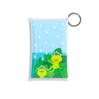 雨どきどき Mini Clear Multipurpose Case