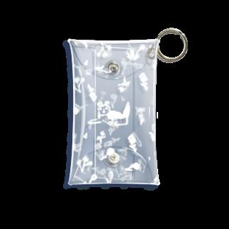 やまこの花と犬White Mini Clear Multipurpose Case