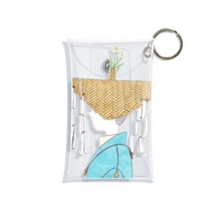 大津萌乃の水仙の花笠の絵 Mini Clear Multipurpose Case