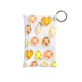 ぎっしりな黄色とオレンジ色の宝石 Mini Clear Multipurpose Case