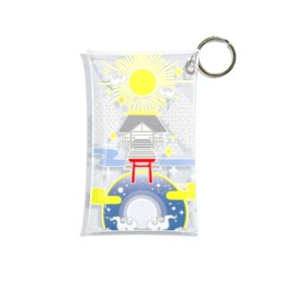 聖域 太陽と月と神社 Mini Clear Multipurpose Case