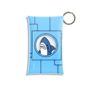 宇宙船に乗るサメ Mini Clear Multipurpose Case