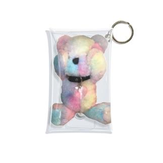 Peek-a-boo Teddy rainbow Mini Clear Multipurpose Case