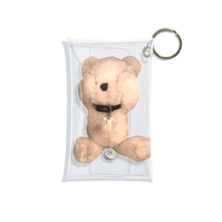 Peek-a-boo Teddy sepia Mini Clear Multipurpose Case