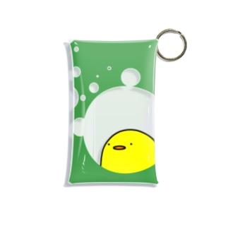 ヒヨコクリアマルチケース(ミドリ) Mini Clear Multipurpose Case