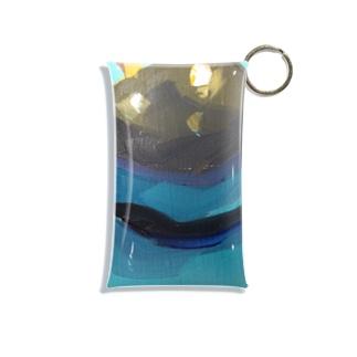 Yuri_Paintingのブラックプラム Mini Clear Multipurpose Case